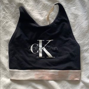 CK crop top sports bra